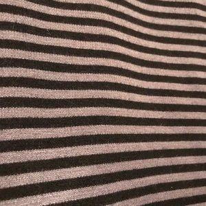 LuLaRoe Cassie Skirt -Black & Grey Striped 2XL
